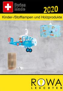 Rowa Leuchten Kinder Leuchten Katalog cover 2020
